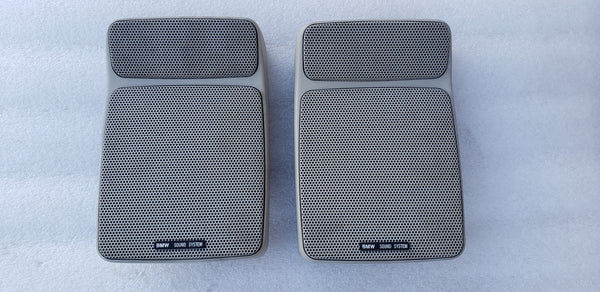 BMW E30 E28 E23 Rear Deck Tray Factory Premium Speaker Driver Pair Tan OEM
