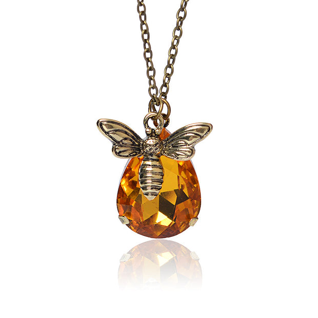 Honey Bee Copper Pendant Necklace