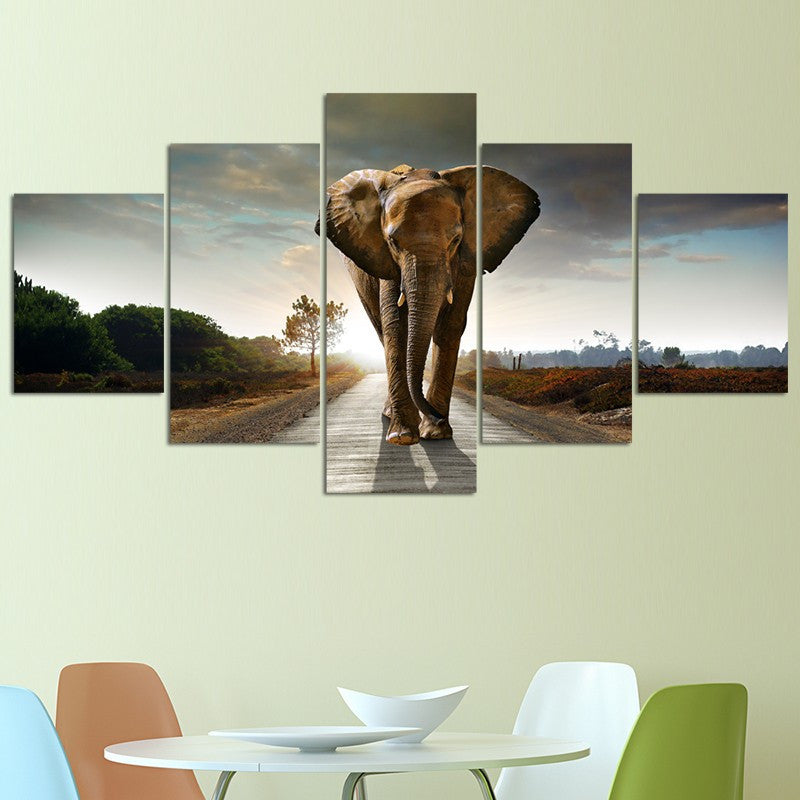 Amazing 5 piece Elephant Print