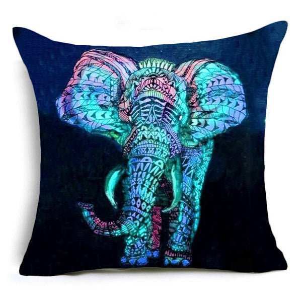Geometric Elephant Pillow Covers