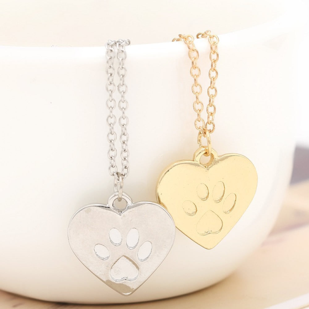 Paw Print Charm Necklace