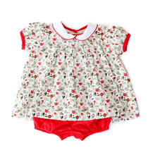 Holly Jolly Floral Molly Bloomer Set (12m,18m)