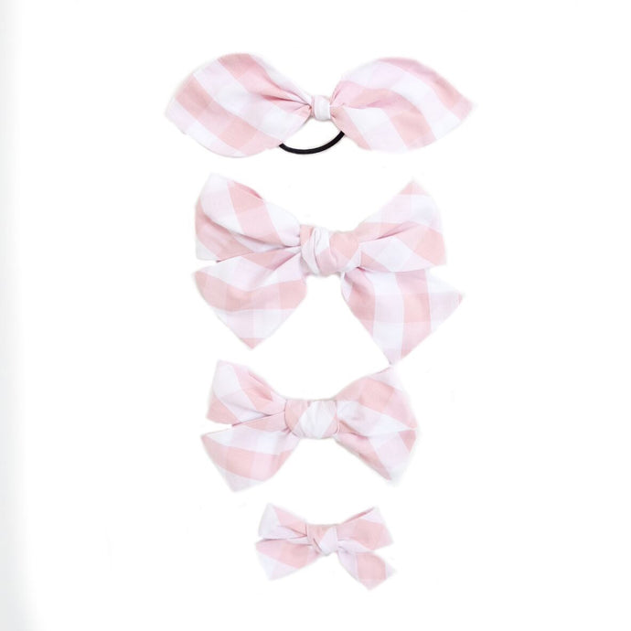 Handtied Hairbows Cheery Cherry Check (Sm, Lg, Ponytail)