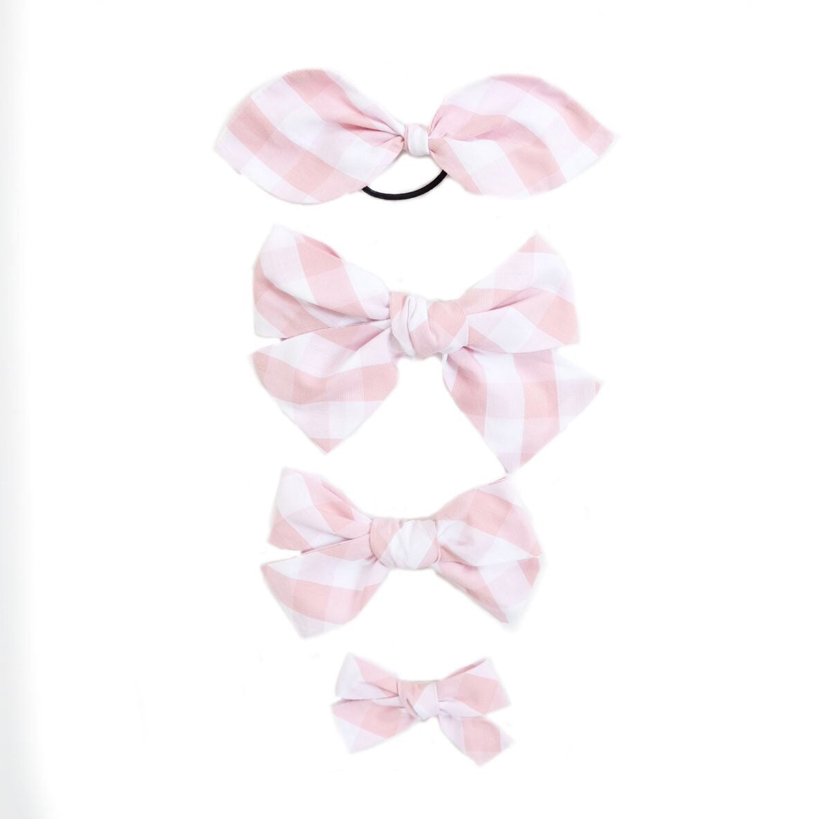 Handtied Hairbows Cheery Cherry Check