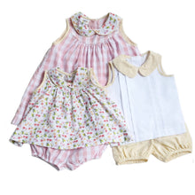 Cheery Cherry Sunshine Stripe Cooper Banded Shorts Set (18m-2t)