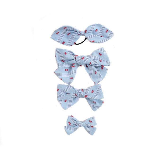 Handtied Hairbows Sail Away Plumeti Stripe (Sm)