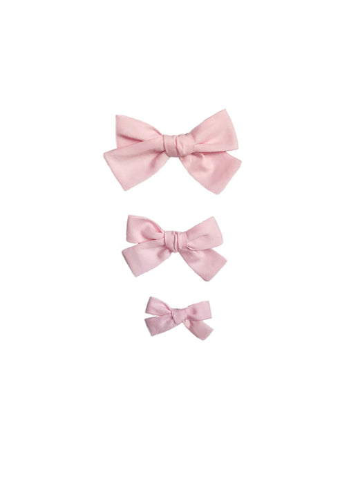 Light Pink Pique Hand-Tied Hairbow (Small, Medium, Large)