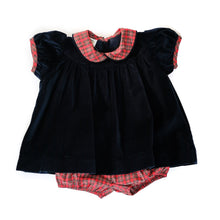 Park Avenue Velvet Molly Bloomer Set (12m)