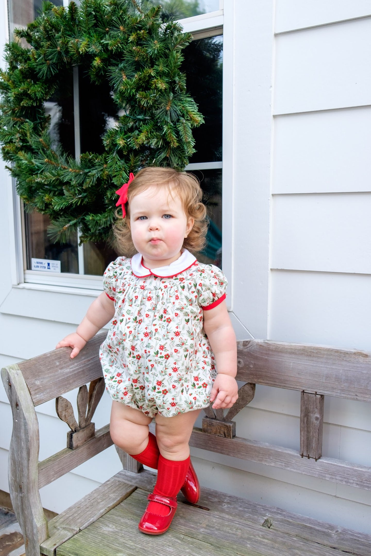 Holly Jolly Floral and Corduroy Jane Bubble (9m-24m)