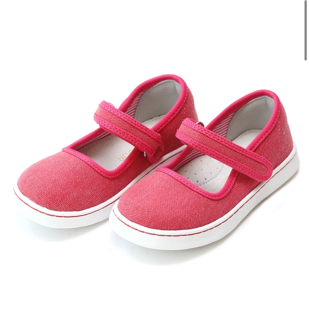 Jenna Canvas Mary Jane- Fuschia