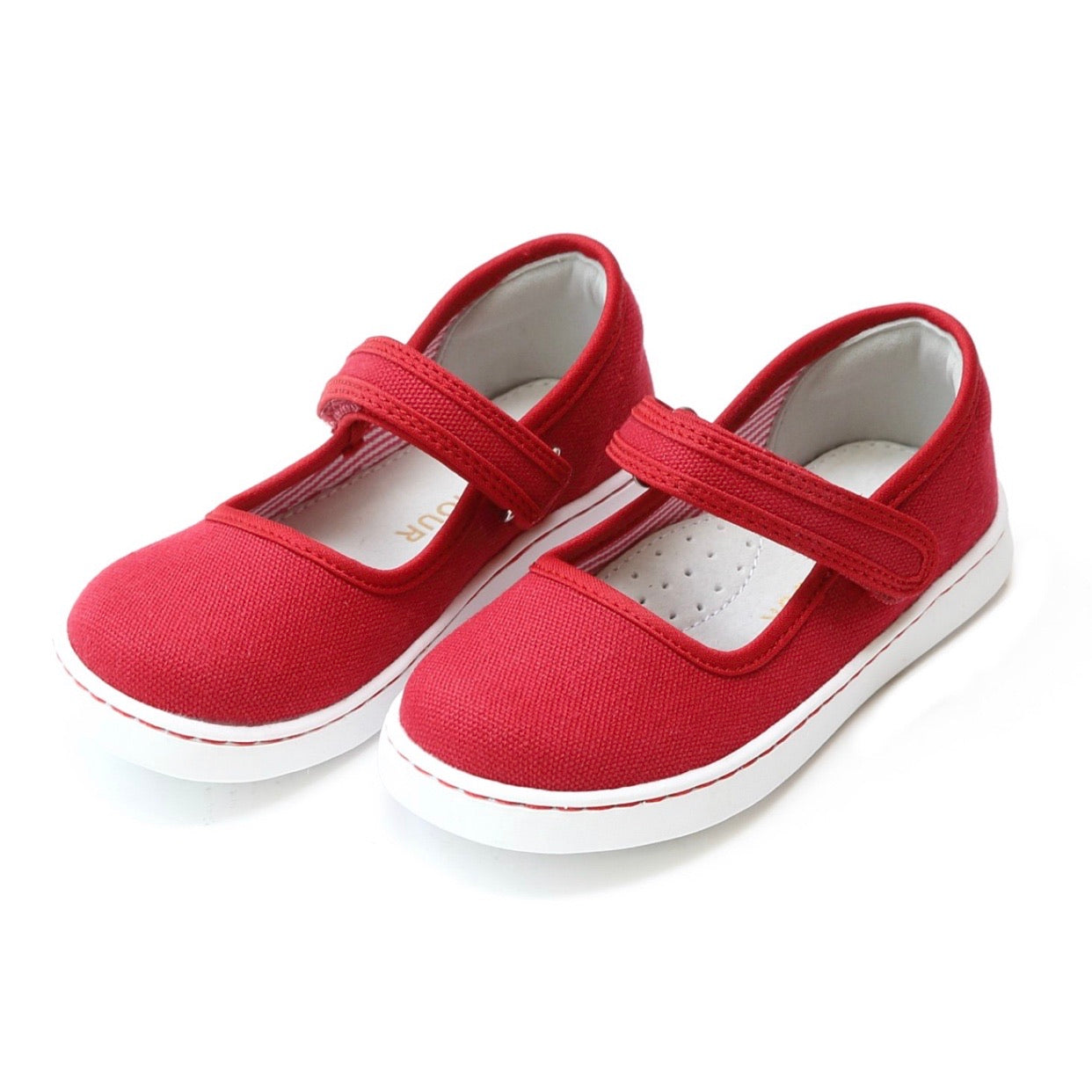 Jenna Canvas Mary Jane- Red