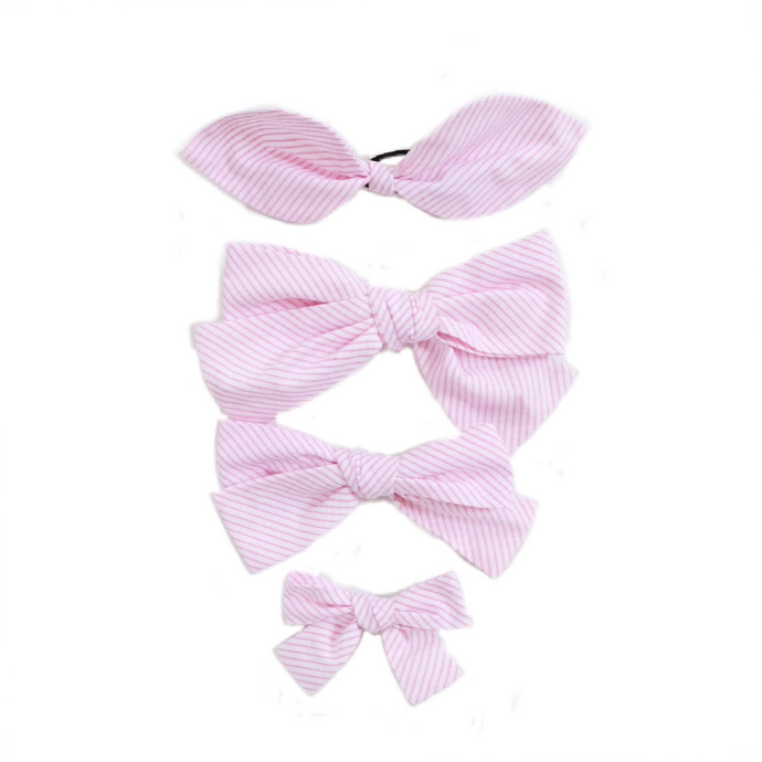 Handtied Hairbows Ice Cream Shop Candy Stripe (Med)