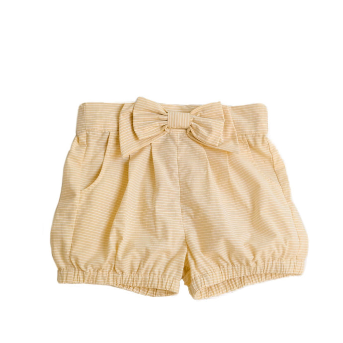 Cheery Cherry Sunshine Stripe Frannie Bow Shorts
