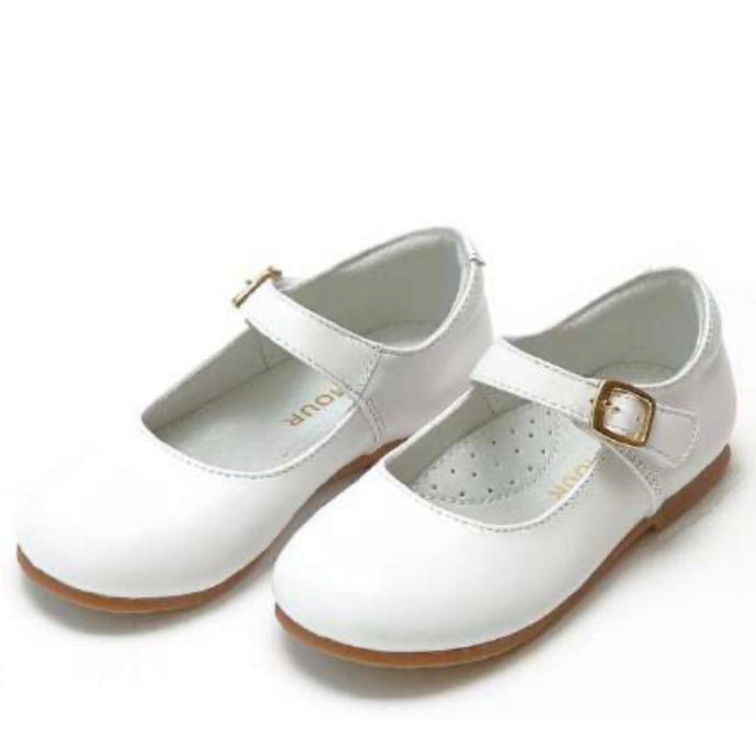 Rebecca Special Occasion Flat- Pearlized White