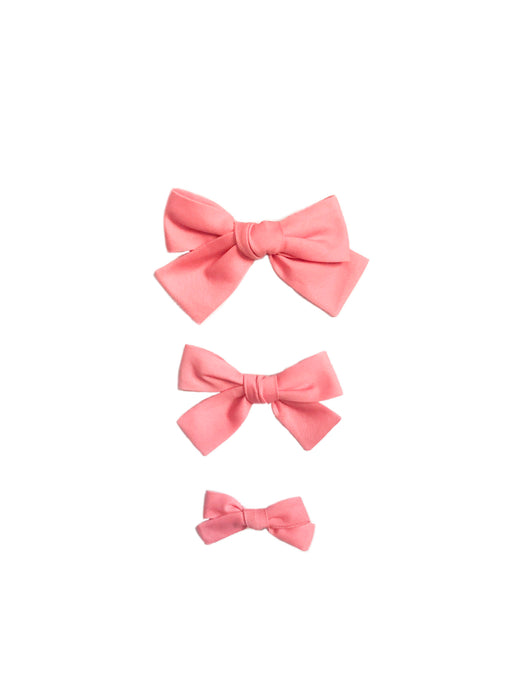 Coral Pique Hand-Tied Hairbow (Medium, Large)