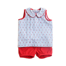 Sail Away Cooper Banded Shorts Set (18m-2T)