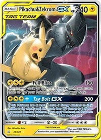 Team up - 33/181 - Pikachu & Zekrom GX