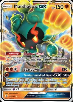 Burning Shadows - 80/147 - Marshadow GX