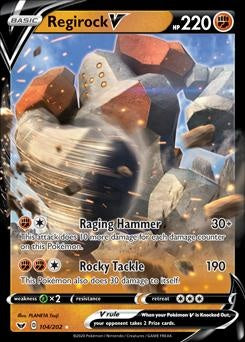 Sword & Shield- 104/202 - Regirock V