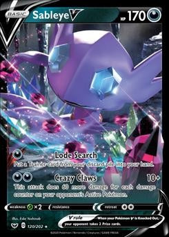 Sword & Shield- 120/202 - Sableye V