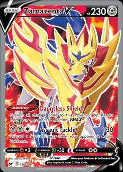 Sword & Shield- 196/202 - Zamazenta V Full Art