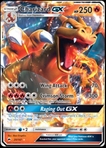 Burning Shadows - 20/147 - Charizard GX