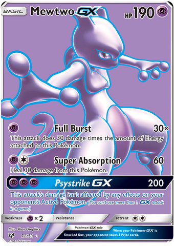 Shining Legends - 72/73 - Mewtwo GX Full Art