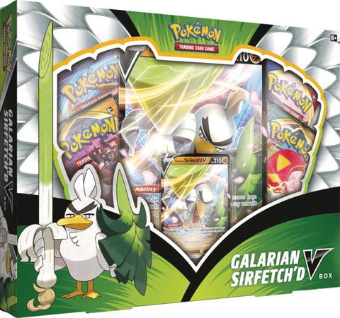 Pokemon - Galarian Sirfetch'd V Collection Box (Pre-order Sept 25 2020)