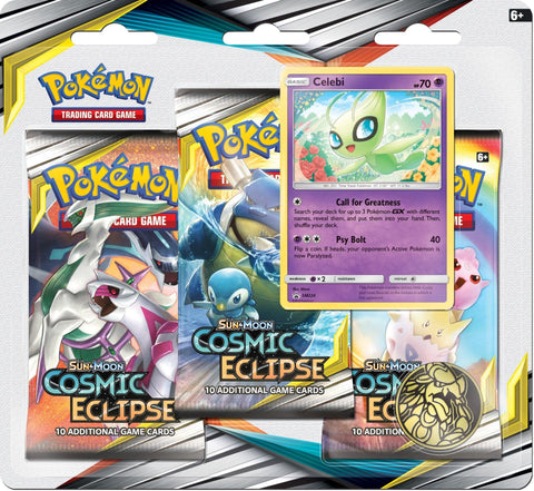 Pokemon - Cosmic Eclipse - 3 Pack Blister - Celebi