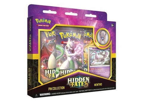 Pokemon Hidden Fates Pin Collection Box - Mewtwo