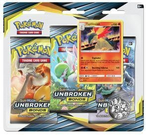 Pokemon - Unbroken Bonds - 3 Pack Blister - Typhlosion