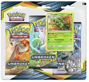 Pokemon - Unbroken Bonds - 3 Pack Blister - Sceptile