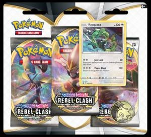Pokemon - Rebel Clash - 3 Pack Blister - Rayquaza (Pre-order May 1 2020)