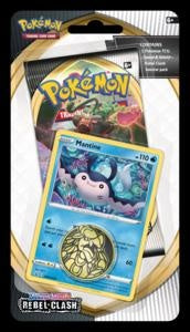 Pokemon - Rebel Clash - Checklane Blister - Mantine (Pre-order May 1 2020)