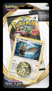Pokemon - Rebel Clash - Checklane Blister - Noctowl (Pre-order May 1 2020)