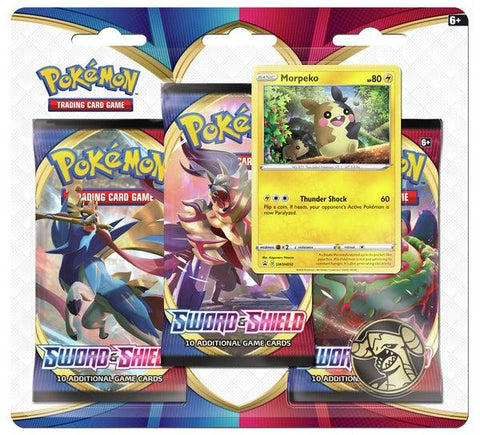 Pokemon - Sword & Shield - 3 Pack Blister - Morpeko