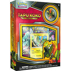 Pokemon Tapu Koko Pin Collection Box