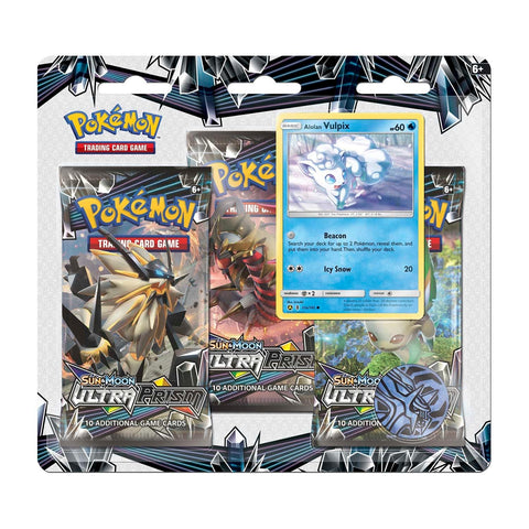Pokemon - Ultra Prism 3 Pack Blister - Alolan Vulpix