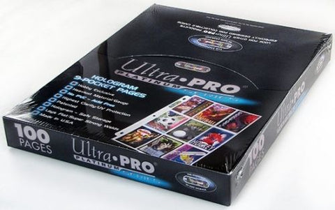 Ultra Pro Binder Pages 9 Pockets 100ct