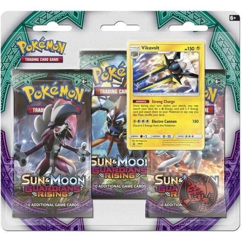 Pokemon Guardians Rising 3 Pack Blister - Vikavolt