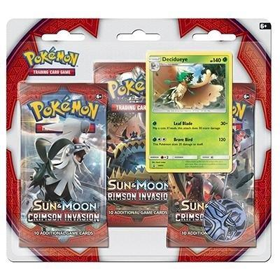 Pokemon Crimson Invasion 3 Pack Blister - Decidueye