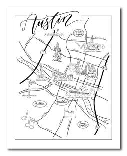 Austin Urban Illustrated Map