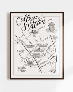 College Station Illustrated Map