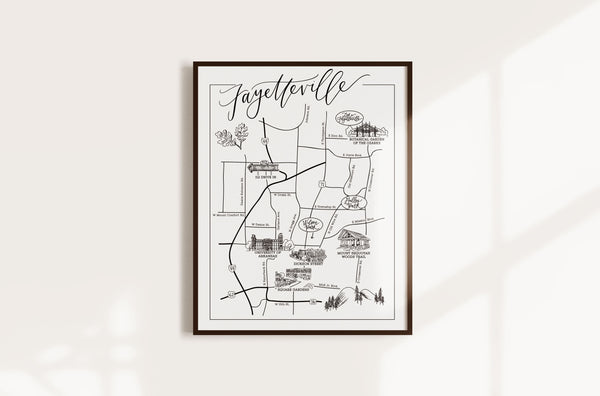 Fayetteville Urban Illustrated Map