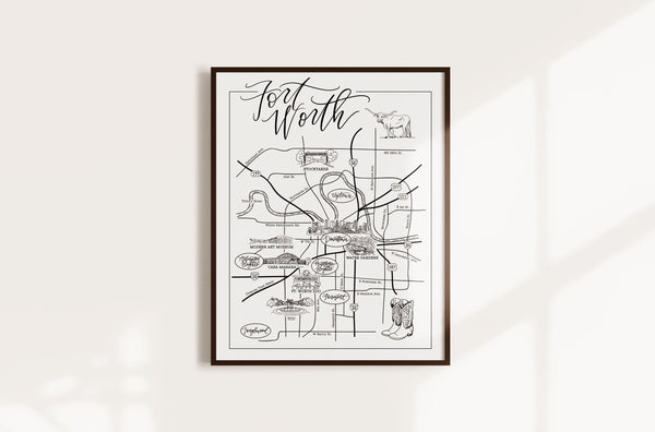 Ft. Worth Urban Illustrated Map