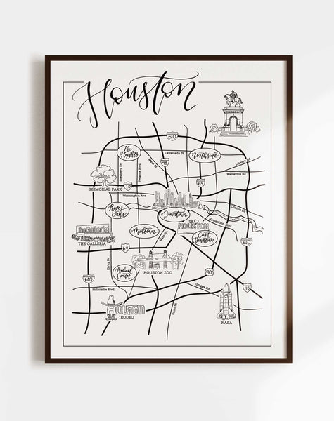 Houston Urban Illustrated Map