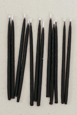 Beeswax Birthday Candles - Blacks