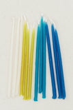 Beeswax Birthday Candles - Blues