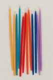 Beeswax Birthday Candles Tall - Primaries