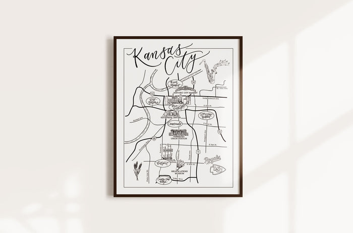 Kansas City Urban Illustrated Map